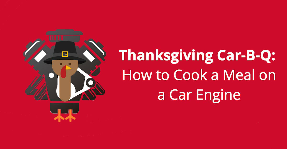 "Thanksgiving Car-B-Q | How to Cook a Meal on a Car Engine"" /></a></p> <p><a href="